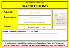 paediatric patient - trach tube sign